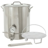 Bayou Classic 8-Gallon Stainless Steel 6 Piece Brew Kettle Set